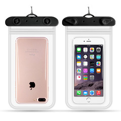 Clear Waterproof Mobile Phone Bags universal phone Camera Dry Case Water proof Bags black 11*22cm