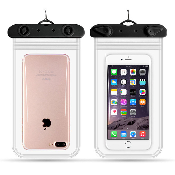 Clear Waterproof Mobile Phone Bags universal phone Camera Dry Case Water proof Bags black 11*22cm