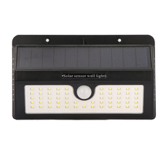 55LED Solar Motion Sensor Light Waterproof Garden Light Outdoors Wall Lamp warm lights 1pcs