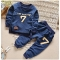 Kids Boys Clothing Set Baby Outfit Top+Pants Sport Toddler Tracksuit CR001A royalblue 110