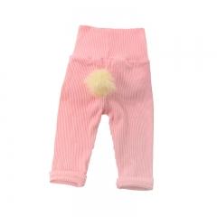 Girls' Daily Solid Pants, Cotton All Seasons Long Sleeves Cute Blushing Pink Light Green Khaki GX581C pink 70