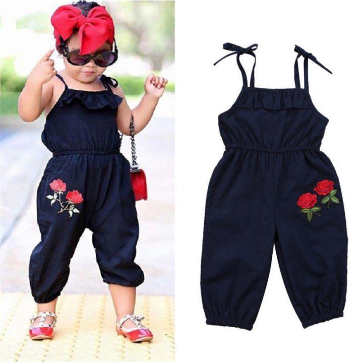 a31e438c38ec Baby Girl Clothing Toddler Kids Jumpsuit Summer Newborn Infant ...