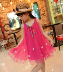Girl's Going out Holiday Solid Jacquard Dress, Rayon Sleeveless Cute Street chic Fuchsia GZ026A fuchsia 100