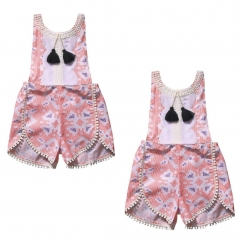Girls' Daily Going out Polka Dot Striped Blouse, Polyester Spring Summer Sleeveless Active Boho GG230A pink 3-4y
