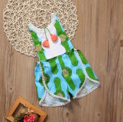 Girls' Daily Going out Polka Dot Striped Blouse, Polyester Spring Summer Sleeveless Active Boho GG229A green 6-12m