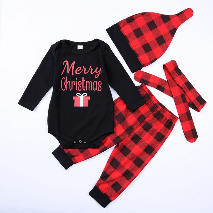 Best Day Ever Infant Baby Girs  Boys  Plaid Hat+romper+Plaid pant+ ... 583b8f415d2