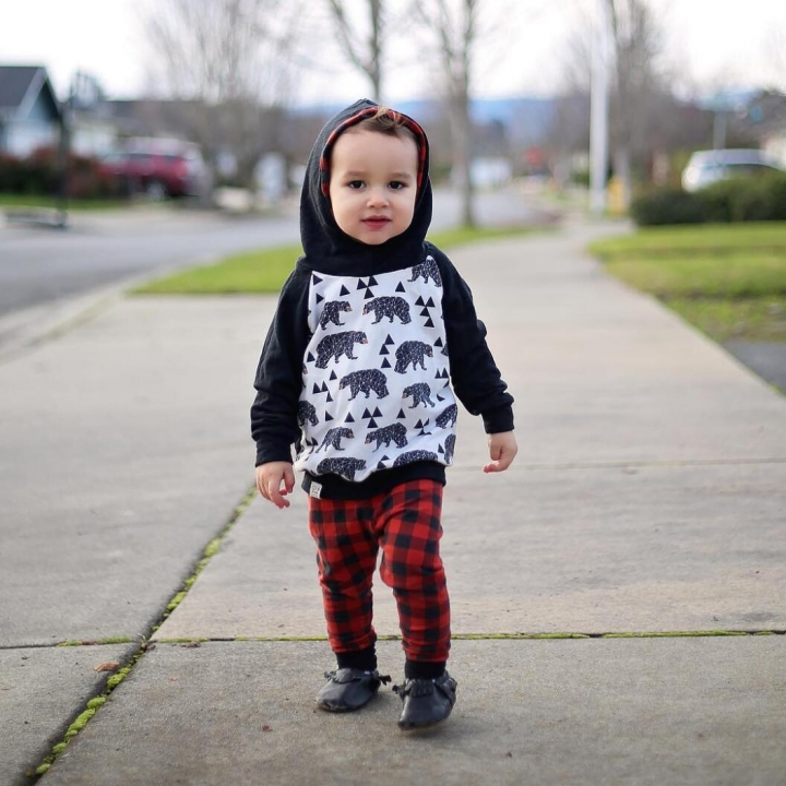 Baby Girl Boys Clothing Set Toddler Tracksuit 2PCS Hoodie Tops+Pants GL298A black 70