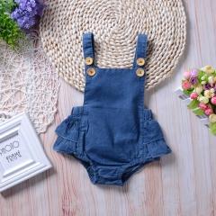 baby girl romper suit blue onesies toddler jumpsuit summer kid suit GD163A blue 90
