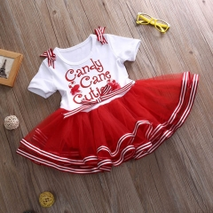 Summer Kids Baby Girls Dress Princess Party Dresses red GL137A 80