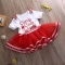 Summer Kids Baby Girls Dress Princess Party Dresses red GL137A 110
