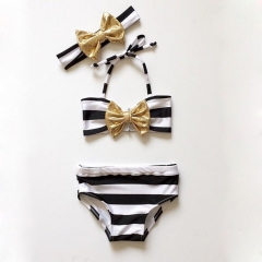 Baby Girls Swimwear Kids Swimsuit Vogue Bebe Girls Clothing Suits black YY001A 100
