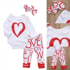 Baby Girl Boy Clothing Set Toddler Outfit Newborn Kids Clothes red GC188A 70