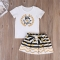 """Children's clothing Baby Girls T-shirt Dress Print """"BIG SISTER"""" Outfits Matching Clothes 2-6T GC129B white 110"""