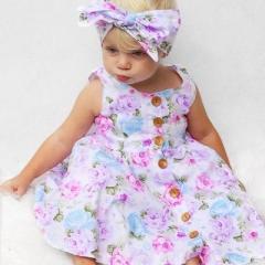 Baby Girl Dress Summer Vest Princess Dresses Toddler Girl Clothing purple GG254A 110