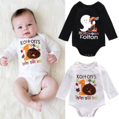 Children's clothing Newborn Baby Boys Fashion rompers babies Long sleeve bodysuit Jumpsuit GH064B white 70 cotton
