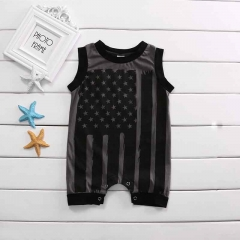 Baby Unisex Cotton Jumpsuit Toddler Outfit Infant Romper Overall GH127A black 80