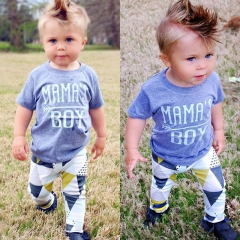 Newborn Baby Boys Toddler Outfit T-shirt Tops+ Long Pants Casual Clothes GH100A blue 70