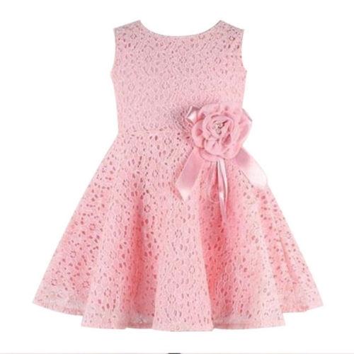 Girl dress Wedding Party Birthday Formal Dresses Kids Clothing GX365B pink 100