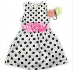 Children's clothing Newest Fashion Kids Girls Thin Party Wedding Polka Dots Flower Gown Fancy Dress GX447BGGG017A white 110
