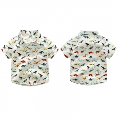 Baby Boy Shirt Short Sleeve Tops Infant Kids Boys Clothing GX601A white 100