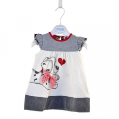 Children's clothing Girls Princess A-Line Dresses Girls Kids Dress Skirt GZ025A light gray 100