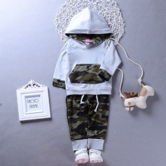 Baby boys Clothing Set Newborn Toddler Outfit Infant Kids Suit WWW062A army green 80