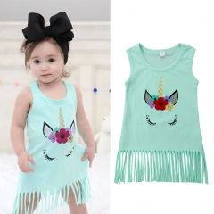 Newborn Baby Girl Casual Dress Green Vest Shirt Kids Fashion GL320A light blue 80