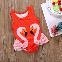 Toddler Kids Baby Girls  Bikini Swimwear Swimsuit Bathing Suit Beachwear YY039C red 90