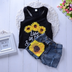 Kids Baby Fashion Clothing Set Boutique Summer Toddler Outfit GH299A black 90