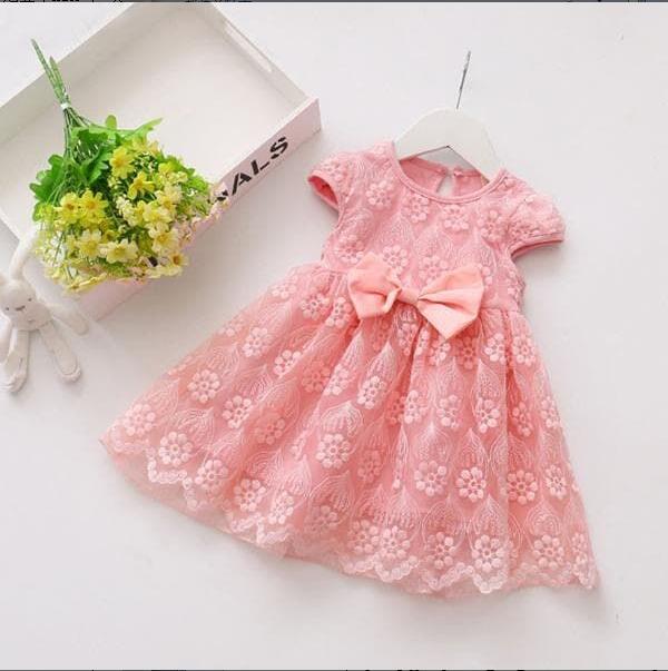 baby Girl Tutu Dress Princess Party Wedding Pink Dresses Girl Clothing HH049A pink 8
