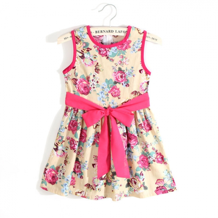 baby girl dress princess party wedding dresses summer kids suit girl clothing GX116A yellow 90
