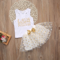 Summer Kids Baby Girls Princess Party Dress Sleeveless Tutu Flower Dresses 1-6T GGG151B white 90