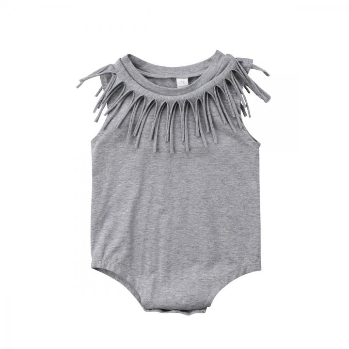 baa915db1335 Newborn Infant Baby Girls Boy Romper Bodysuit Jumpsuit Outfits Sunsuit  Clothes GH305C gray 80