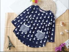 Baby Girls shirt Long Sleeve Tops Toddler Kids Suit Clothes GD015A royal blue 2