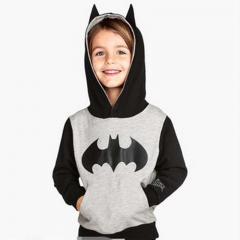 BABY Boys Sweater Grey Black Tops Shirt Batman Coat Kids Clothes Toddler Jacket GX226A light gray 90 cotton