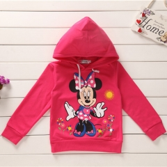 Baby Girl Clothing Long Sleeve Mikey Mouse Shirt Kids Clothes GL094A fuchsia 100