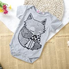 Newborn Infant Baby Romper Suit Toddler Jumpsuit Bodysuit Onesies GZ012A gray 70