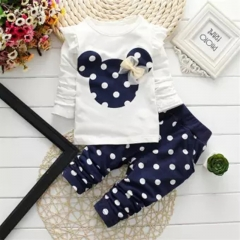 Girl Clothing Set Newborn Baby Infant Clothes Toddler Outfit Kids Suit GC080A royal blue 110