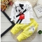 Baby Boys Clothing Set Cartoon Mickey Clothes Sets T-Shirt+Pants Sport Suit XB102D yellow XL