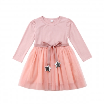 1c72e74baadfa Princess Kids Baby Girl Dress Lace Floral Party Dress Gown Bridesmaid  Dresses MN034A pink 80