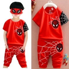 2PCS Baby Boys Clothing Set Boy Summer Clothing Kids Suit Toddler Outfit GX076A red s
