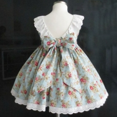 Baby Girl Pretty Flower Cute Dress Princess Casual Formal Party Lace Dress Lu HY041A light green 100