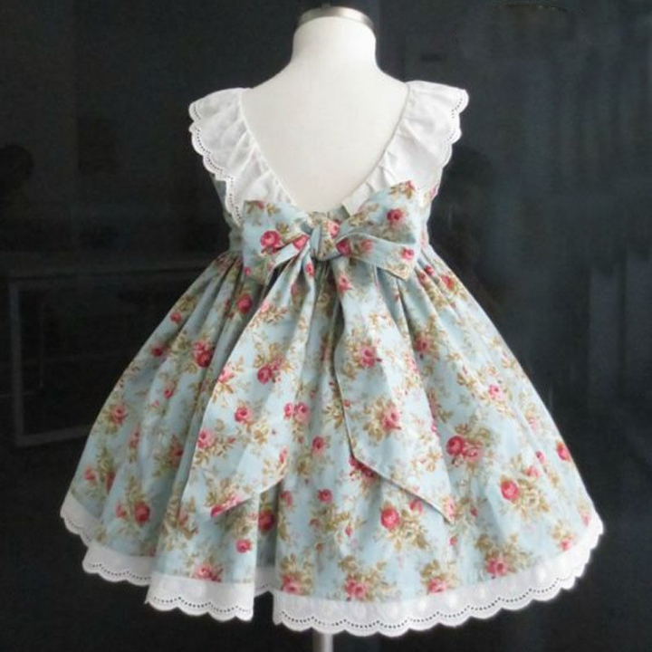 Baby Girl Pretty Flower Cute Dress Princess Casual Formal Party Lace Dress Lu HY041A light green 120