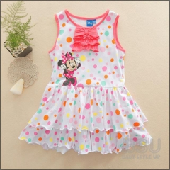 Baby Girl Mikey Mouse Dress Toddler Carton Dresses Clothing GX290A red 90
