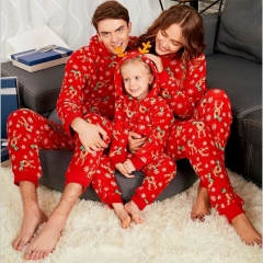 Family matching clothes Xmas adult kids home wear sleepwear CR044ABC red 2