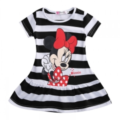 Baby Girl Mikey Mouse long top Girl Summer Clothing Short Sleeve Casual black GL093A 100