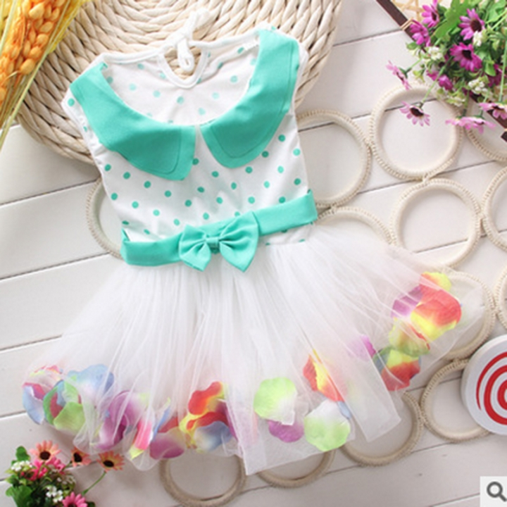 Newborn Infant Baby Girl Lace Dress Todller Wedding Dress GX094A light green 130