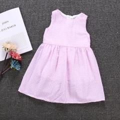 Princess Little Girl Dress Toddler Baby Kids Summer Dresses pink  GX519A 80