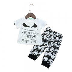 Newborn Baby Boys Toddler Outfit T-shirt Tops+ Long Pants Casual Clothes white GGG081A 80