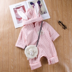 1PC Cute Baby Girls Boys Rabbit Animal Romper Bodysuit Outfits pink GX561A 70